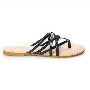 New LC Lauren Conrad Sodalite Strappy Slide Sandal